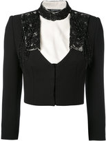 Alexander McQueen embroidered cropped jacket - women - Silk/Polyamide/Cupro/Wool - 40