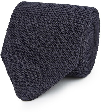 Reiss Jackson - Silk Knitted Tie in Navy