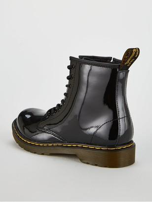 Dr. Martens Girls 1460 Patent Boots - Black