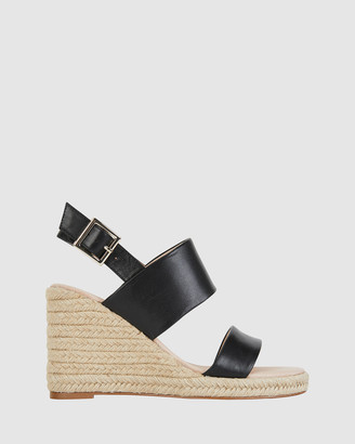 Jane Debster - Women's Black Wedge Sandals - Dice - Size One Size, 37 at The Iconic