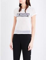 Maje Tele fishnet-mesh T-shirt