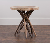 Jeffan Decorative Brown Rustic Transitional Liberte Round Accent Table