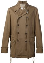 Maison Margiela double breasted coat - men - Cotton/Polyester - 48