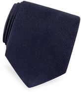 Forzieri Solid Twill Silk Tie
