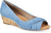 Giani Bernini Rivey Peep-Toe Wedges, Created for Macy's