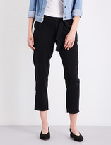 Paige Senora skinny cropped twill trousers
