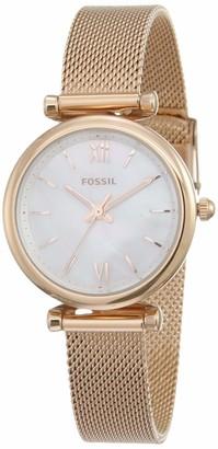 Fossil Women's Carlie Mini Quartz Mesh Three-Hand Watch