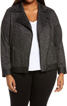 Liverpool Los Angeles Leopard Print Moto Jacket