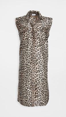 Ganni Crispy Jacquard Collared Dress