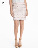 White House Black Market Petite Embellished Skirt