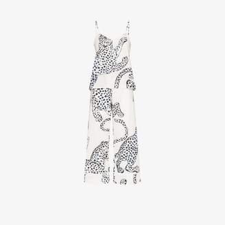 Desmond & Dempsey jaguar print cotton pyjama set