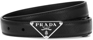 Prada Logo leather belt