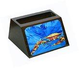 """Caroline's Treasures """"Big Splash Crab in Blue"""" Decorative Desktop Wooden Business Card Holder"""