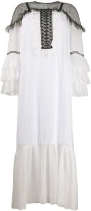 D-Exterior Lace Panel Dress