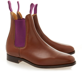 Tricker's Beechnut Chelsea Boot with Purple Elastic