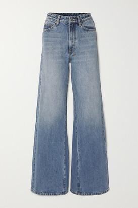 Ksubi Kicker High-rise Wide-leg Jeans - Mid denim