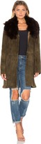 Cleobella Zella Jacket with Raccoon Fur Trim