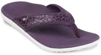 Spenco Women's Yumi Cheetah Sandal Flip-Flop