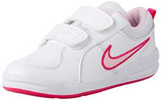 Nike Girls' 4 Pico 4 Psv Foot Wear-White/Red/Black, Size 12, Blue/White