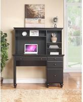 Thomasville Renovations by 2-Shelf Engineered Wood Desk Hutch in Vintage Ebony
