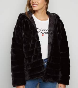 New Look Faux Fur Reversible Puffer Jacket