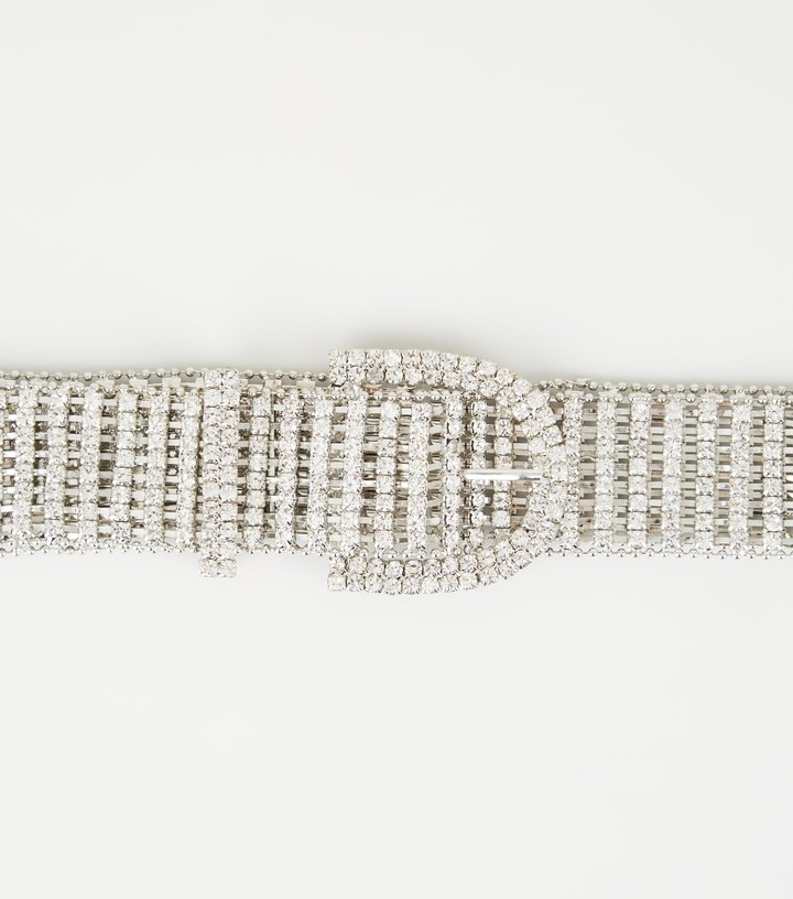 Thumbnail for your product : New Look Diamante Embellished Chain Belt