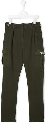 Paolo Pecora Kids TEEN straight leg cargo trousers