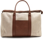 Brunello Cucinelli Canvas and leather tote