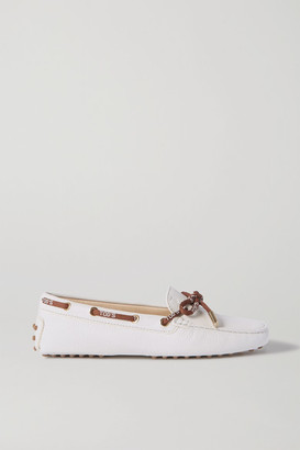 Tod's Heaven Textured-leather Loafers - White