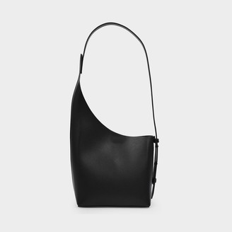 Aesther Ekme Demi Lune Bag In Black Leather