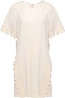 Chloé Scalloped Crepe Mini Dress