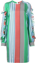 MSGM ruffled trim striped dress