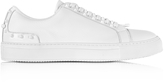 Neil Barrett Optic White Leather Studded City Trainers