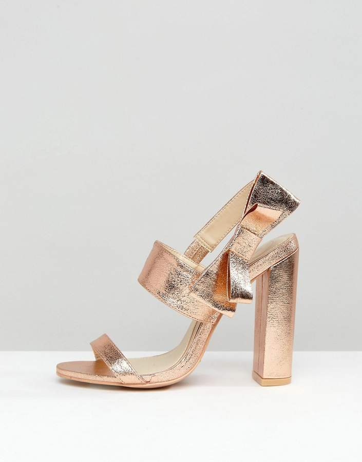 Missguided Bow Side Heeled Sandal