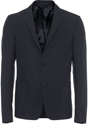 Prada technical poplin single-breasted jacket