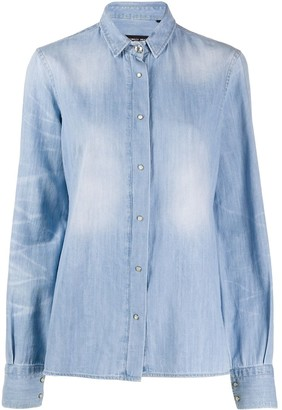 Frankie Morello Denim Long Sleeve Shirt