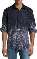 English Laundry Constellation-Print Sport Shirt, Navy