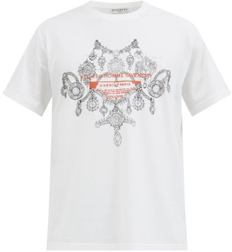 Givenchy Necklace-print Cotton-jersey T-shirt - White Multi