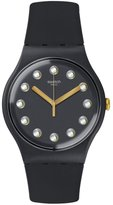 Swatch Women's New Gent SUOM104 Silicone Swiss Quartz Watch