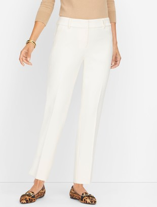 Talbots Hampshire Ankle Pants - Lined Ivory