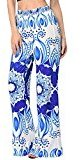 Casual Pants, Fheaven Women Sexy Bohemia Loose Stretch High Waist Wide Leg Long Pants (M, Blue)
