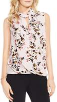 Vince Camuto Twist Neck Bouquet Floral Print Blouse