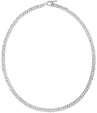 Pearls Before Swine Silver Sliced Necklace