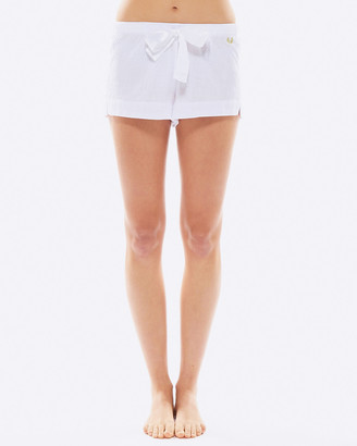 Deshabille White Night Shorts