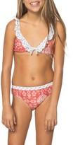 O'Neill Girl's Fiona Ruffle Bikini Top