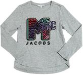 Little Marc Jacobs Sequins Marc Cotton Jersey T-Shirt