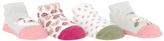Cutie Pie Baby Pink Floral & Gray Owl Four-Pair Socks Set