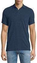 Vilebrequin Johnny-Collar Pique Polo Shirt, Navy