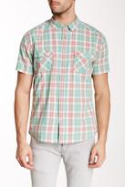 Quiksilver Plaid Short Sleeve Modern Fit Shirt