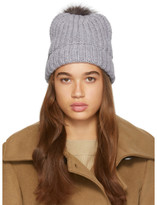 Mackage Grey Pom Pom Doris Beanie